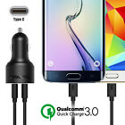 Qualcomm Certified USB Fast Car Charger Quick Charge 3.0 Tronsmart+Type-C Cable