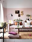 Plain Pale Pink Lounge Wallpaper - Amelia - Shabby Chic / Modern Feature - 45981