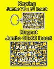 YOU ARE ONE IN A MINION JUMBO FRIDGE MAGNET OR JUMBO KEYRING NO UK P&P BIRTHDAY