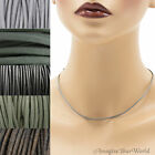 1.5 mm Gray Leather Cord Necklace or Choker Custom Length ur colors Handmade USA