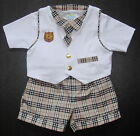 BABY BOY OUTFIT Waistcoat Shorts Designer Clothing Cotton Suit Formal Casual