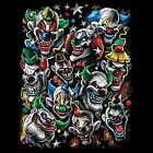Evil Colored Clowns T-Shirt Pick Size Youth Medium - 6 X Large Pick Your Size image