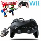 2PCS Pro Classic Joypad Wired Controller Remote for Nintendo Wii&Wii U BLACK