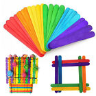 50Pcs Wooden Popsicle Sticks for Party Kids Toy DIY Hands Crafts Ice Cream Pop