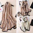 Fashion Women Ladies Spring Large Long Soft Silk Scarf Wrap Shawl Scarves US