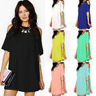 affordable plus size clothes - Women's Ladies Summer Party Chiffon Solid Tops Dress Clothes Plus Size Blouse