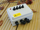 OUTDOOR GARDEN SWITCH BOX FOR PONDS PUMPS LIGHTING - with Mains LED