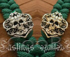 Buckle * SKULL * SILVER /Bronze Paracord Knife Leather Lanyard Bead / Beads CooB