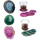 Wine Coffee Cup Coasters Natural Unwrapped Blue Agate Beverage Cup-mat Bar Tool
