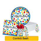 CONFETTI BASH Birthday Party Tableware, Banners, Balloons & Decorations (AM)