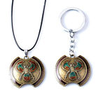 Game Assassins Necklaces Weapon Model Charms Pendant Movie Keychain Keyring Gift