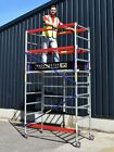 Trade Master Folding Aluminium Scaffold Tower/Towers 3.2m-9.1m Next Day Del!  <br/> including FREE Built In Leg Height Adjustment