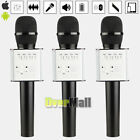 3 x Q9 Wireless Karaoke Microphone Portable Bluetooth KTV Mic Speaker USB Player