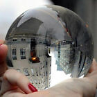 Clear Glass Artificial Crystal Healing Ball Sphere Home Decor Photograph Prop US