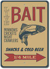 Live Bait Sign, Fishing Bait Sign, Bait Shop Decor, Bait Shop Sign ENSA1002968