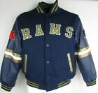 St. Louis Rams Men's Large Reversible Snap-Up Mid Weight Jacket NFL A15