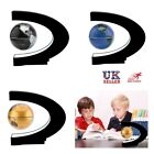 UK Plug LED C Shape World Map Magnetic Levitation Floating Globe Light Kids Gift