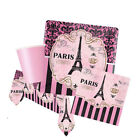 A DAY IN PARIS Birthday Party Tableware, Banners, Balloons & Decorations (AM)