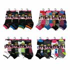L104 LADIES 12prs BREATHABLE CYCLING GYM RUNNING TRAINING TRAINER SOCKS WOMENS