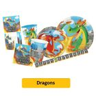 DRAGONS Birthday Party Range - Tableware Balloons & Decorations (Creative) 1C