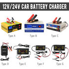 auto lead - 12V/24V Auto Motorcycle Car Battery Charger Pulse Repair Lead Acid Power Bank