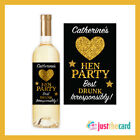 Personalised Hen Party Bride To Be Wine Label Gift