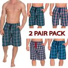 Mens 2 Pack Sleep Night Wear Pyjamas PJ Bottoms Lounge ShortS WITH POCKETS