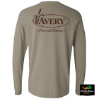 NEW AVERY OUTDOORS SIGNATURE FIRST AND FOREVER LOGO L/S LONG SLEEVE T-SHIRT TEE