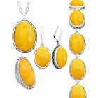 Simulated Beeswax Jewelry Set Necklace Earrings Ring Bracelet Fashion Gift
