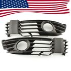 Pair Black w/Fog Light Hole Front Bumper Grill for VW Passat B5 B5.5 US Ship