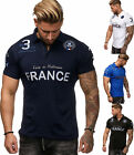 Herren T-Shirt Top Shirt Clubwear Paris France Kragen Polo M L XL XXL NEU
