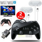 2XClassic Wired Gamepad Joypad Remote Pro Game Controller For Nintendo Wii&Wii U