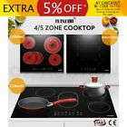 Electric Ceramic / Induction Cooktop 4/5 Zone Touch Control Timer LCD Child Lock