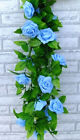 8.2ft USA Artificial Garland Silk Flowers Vine Ivy Home Wedding Garden Decor