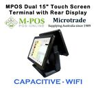 "POS Terminal System DUAL15"" Screens - 1 CAPACITIVE Touch & 1 Display. Free WIFI!"