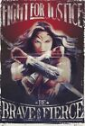 WONDER WOMAN - FIGHT AND BE BRAVE - POSTER - DC COMICS JUSTICE LEAGUE Size 24x36