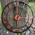 45CM Large Outdoor Garden Wall Clock Roman Numeral Giant Open Face Skeleton
