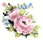 Jeanette Pink Rose Flower Select-A-Size Waterslide Ceramic Decals Xx image