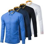 Hot Men's Casual Shirts Long Sleeve Party Weeding Business Formal Dress Shirts