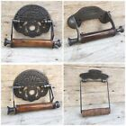 CLASSIC CAST IRON TOILET LOO ROLL PAPER HOLDER GENTLEMEN LADIES RUSTIC BATHROOM