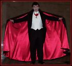 Sexy Dracula 100% Virgin Wool Cape Men's Black Vampire Cloak M XXL