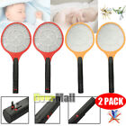 2 x Cordless Rechargeable Bug Zapper Mosquito Insect Electric Fly Swatter Racket
