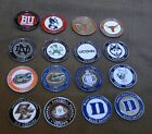 Golf Ball Marker - Diameter 1'' - Colleges - Universities - See Pictures