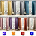 Matrix Block Out Thermal Lined Tape Top Curtains Ready Made Pencil Pleat Pairs