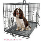 "20""—48"" Dog Crate Kennel Folding Metal Pet Cage 2 Door Indoor Outdoor Black"