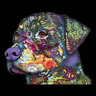 Rottweiler Neon Size 2 X Large-7 X Large Mens Tank Tops