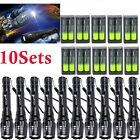 50000L T6 Zoomable Tactical LED Flashlights Lamp Torch+18650battery+Charegr US-
