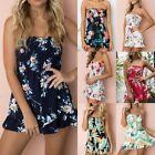Summer Women Holiday Jumpsuit Playsuit Mini Shorts Beach Party Floral Romper New