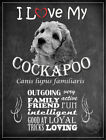 I LOVE MY DOG COCKAPOO FUNNY CUTE LOVELY GIFT :3 SIZES TO CHOOSE FROM