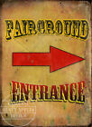 FAIRGROUND ENTRANCE DEISGN YOUR OWN FAIRGROUND METAL SIGN CHOOSE YHOUR OWN SIZE